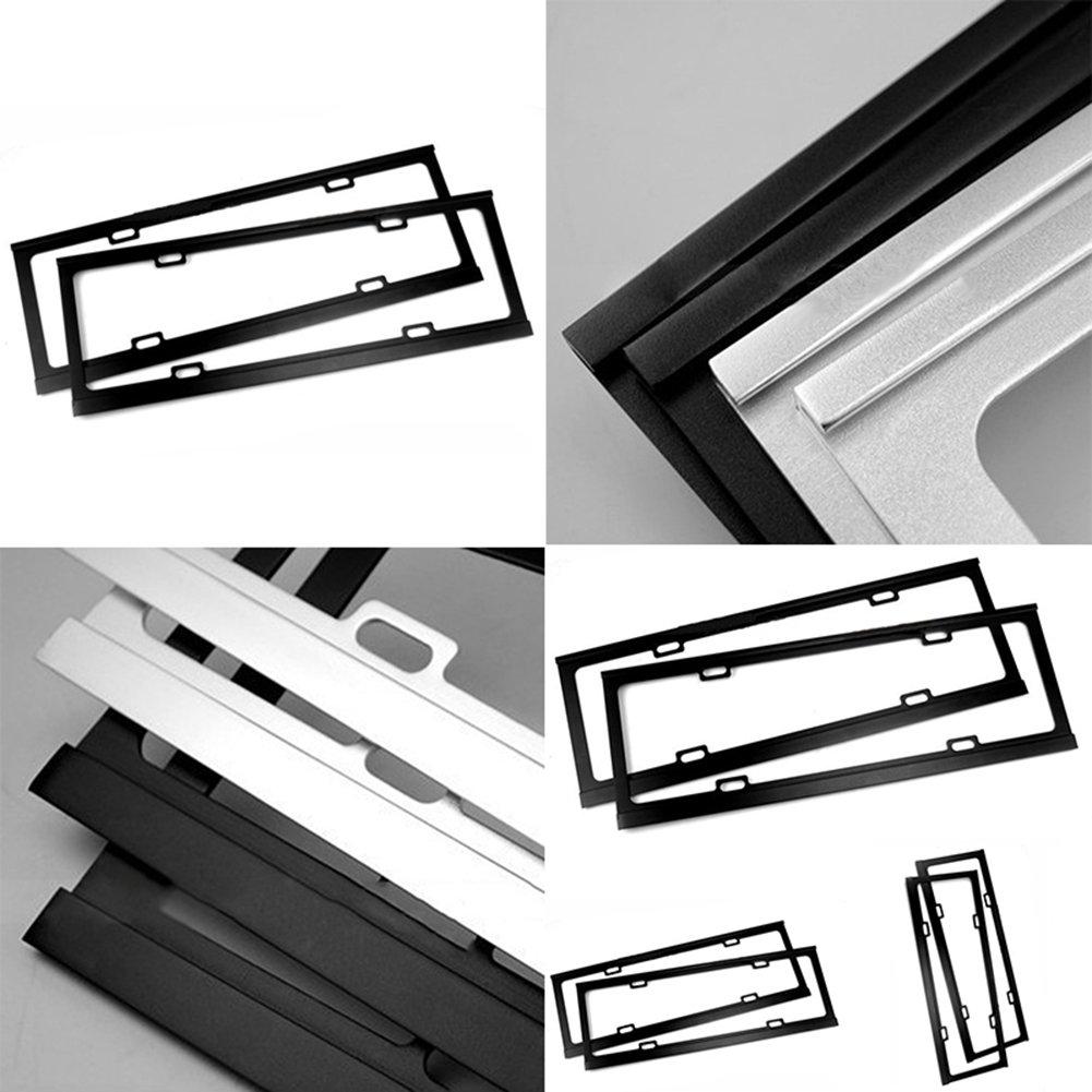 SHOT – in 2 schwarz Edelstahl Metall Nummernschild Rahmen Tag Cover ...
