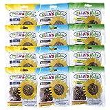 ELLA'S FLATS All Seed Savory Crisps – VARIETY PACK (1.5oz Snack Pack) – 12 PACK (4 Snack Packs each Original Sesame, Caraway, Hemp) – Gluten Free, Sugar Free, Grain Free, High Fiber, Low Carb, Vegan, Review