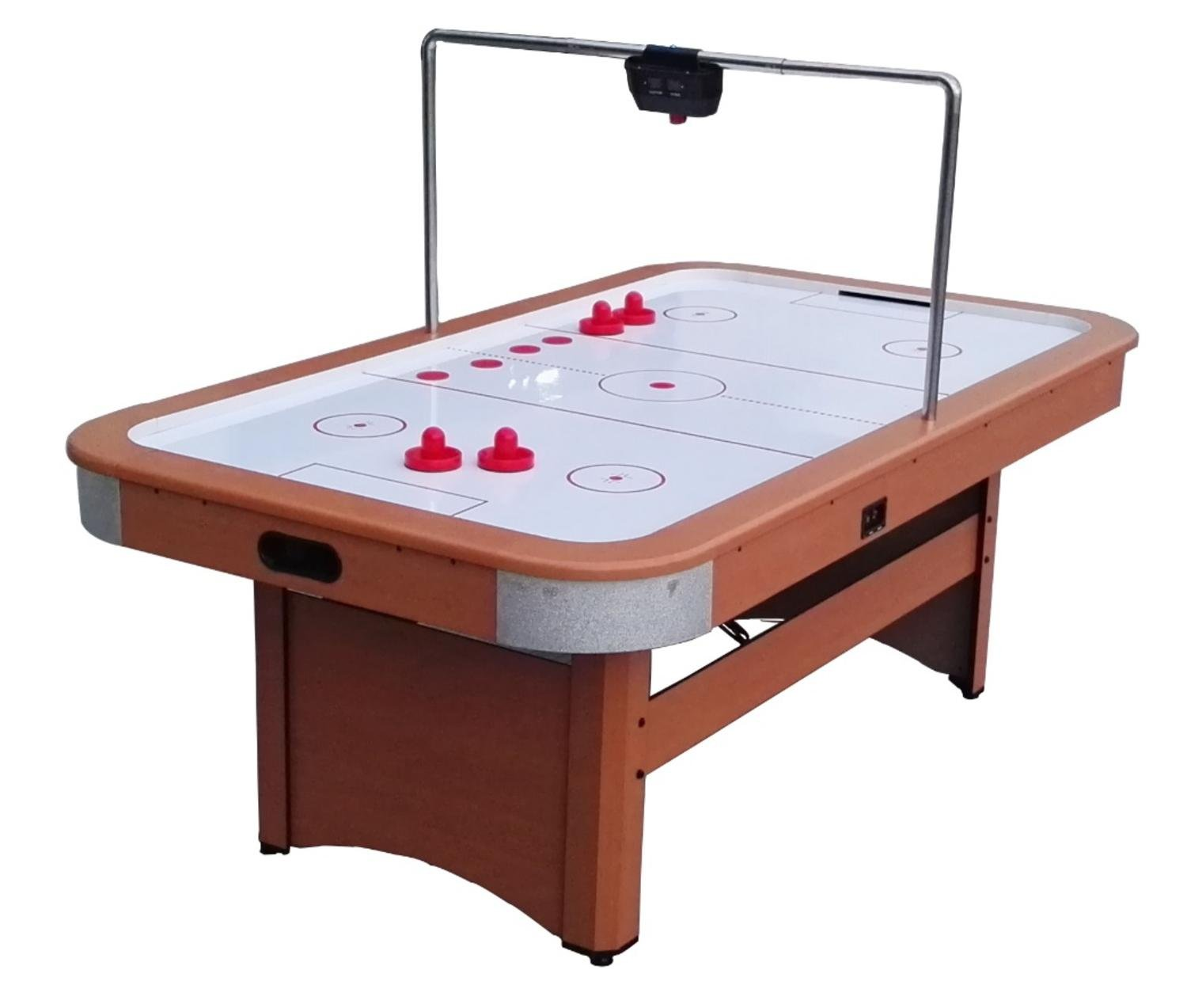 Pool Central AC010-7FT Game Table, Brown/White/Red, 7' 4' by Pool Central
