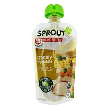 Amazon Sprout Organic Baby Food Stage 3 8 Months Creamy