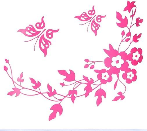 Papillon fleur salle de bain toilette sticker Wall Stickers décoration maison