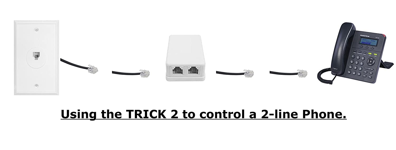 2 Line On Off Switch For Any Telephone Device Connected Switcher To A Rj 11 Phone Jack The Remote Interrupt Control Kit