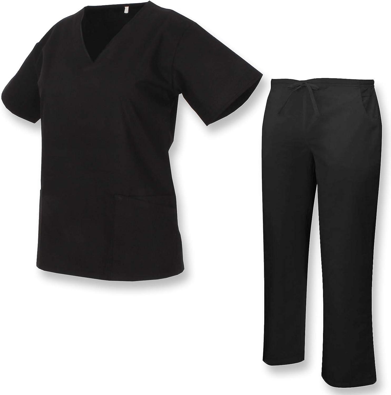 Misemiya Ref.Q818 Uniforme M/édical avec Haut et Pantalon Clinique H/ÔPITAL Nettoyage V/ÉT/ÉRINAIRE SANT/É H/ÔTELLERIE