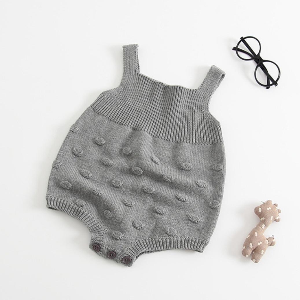 dea14de063ab Amazon.com  LNGRY Autumn Infant Baby Kids Girl Boy Romper Knitted ...