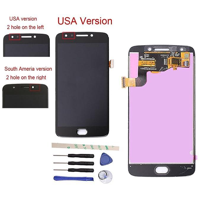 LCD Display Touch Screen Digitizer Assembly for Moto E4 XLTE XT1767  XT1767PP XT1768 EGen 4 USA Version (Black)