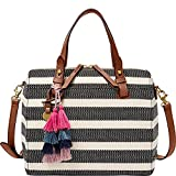 Fossil Rachel Satchel, Black Stripe