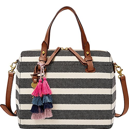 Fossil Rachel Satchel, Black Stripe by Fossil