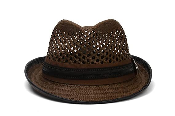 80e2f92bdd537 Santana Ribbon and Leatherette Trim Fedora Hat at Amazon Men s Clothing  store  Carlos Santana Hat