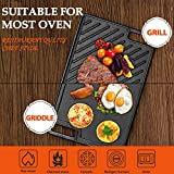 LovoIn 1-Piece Cast Iron Griddle Plate | Reversible