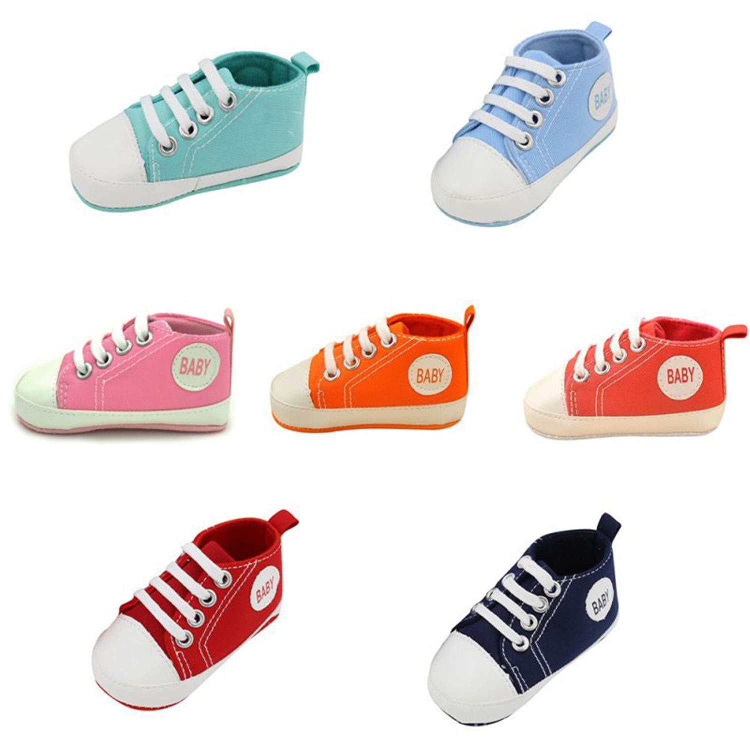 Baby Shoes Infant Unisex Toddler Shoes Baby Boy Girls Soft Sole Crib Shoes Casual Canvas Sneakers
