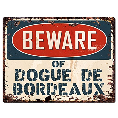 Beware of DOGUE DE BORDEAUX Chic Sign Vintage Retro Rustic 9