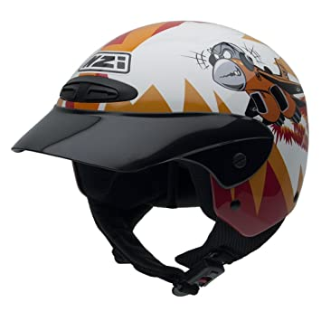 NZI 050255G411 Single Junior Casco de Moto, Crazy Jet, Talla 52-53