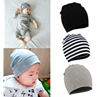 YJWAN Toddler Infant Baby Beanie Soft Cute Cotton Unisex Lovely Boy Girl  Knit Cap Hat 51e413b4d716