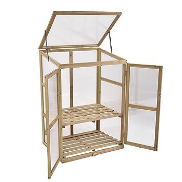 SKB Family Garden Portable Wooden GreenHouse Cold Frame Raised Plants  Shelves Protection