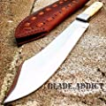 "Only US 13"" Apache Bowie Mountain Man Trade Patch Knife Real Bone Hunting Carbon Steel"