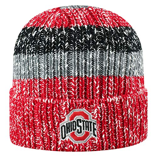Top of the World Ohio State Buckeyes Men's Winter Knit Hat Icon, Red, One Fit (Ohio State Beanie Womens)