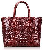 Pijushi Embossed Crocodile Handbags Designer Purses Top Handle Shoulder Bag (6082 Red)