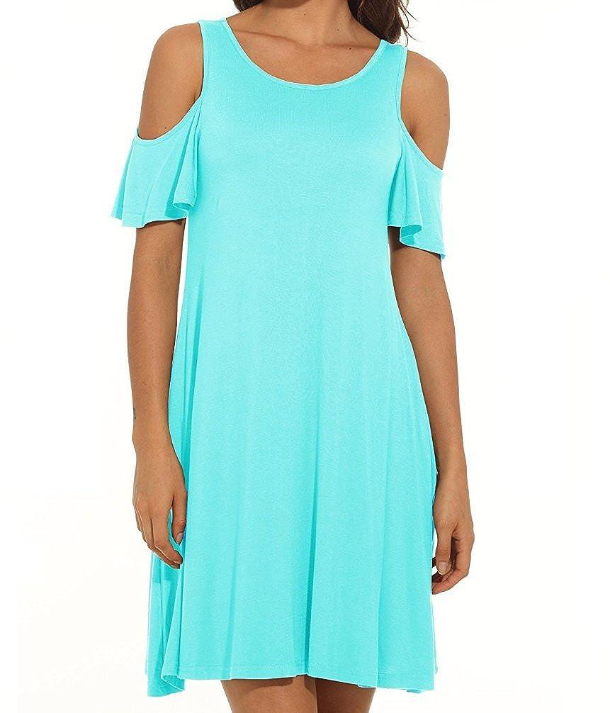 HAOMEILI DRESS レディース B07C3H4JD9 Large|Nile Blue Nile Blue Large