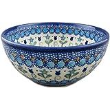 Boleslawiec Style Pottery Hand Painted Polish Ceramic Venus Bowl (16) 072-U-006