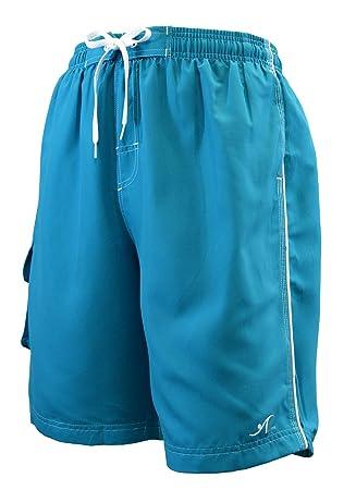 e97875086a Adoretex Men's Swim Trunks Watershort Swimsuit with Mesh Liner - M0001 -  Aqua - 5XL