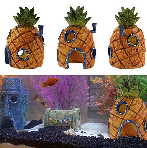 kelaina 1 pc Creative casa tanque de peces adorno de acuario en forma de piña (13 * 7 cm): Amazon.es: Hogar