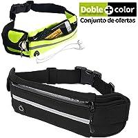 Veli Cangurera Deportiva para Hombre Mujer con Comodo Cinturon Elastico y Salida de Cable de audifinos