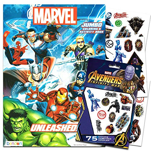 Marvel Avengers Coloring & Activity Book with Temporary