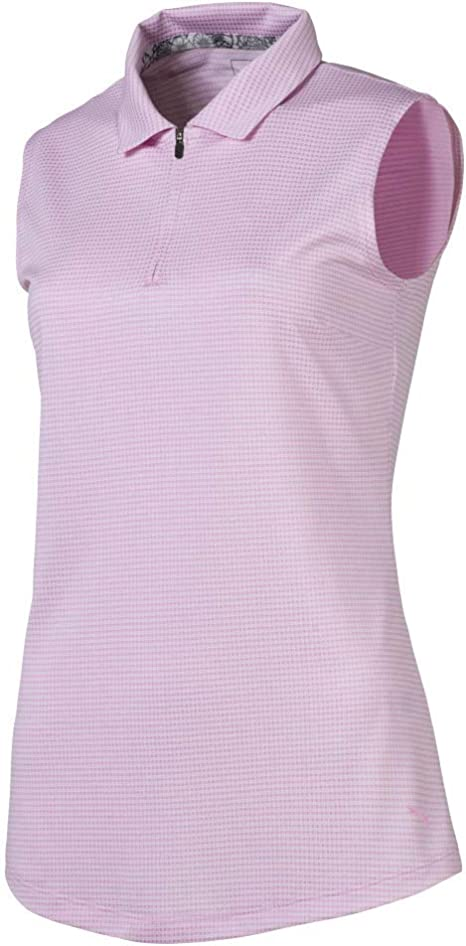 PUMA 2019 Checker Sleeveless Polo Sin Mangas, Mujer: Amazon.es ...