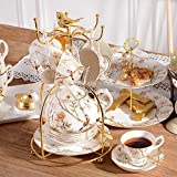 DHG Cup Set English Afternoon Tea Tea Set Red Tea Cup Ceramic Cup Home Coffee Cup Continental Cup,A