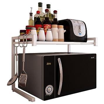 Electrodomésticos de Cocina Horno Microondas Estante Horno Metálico Rack de Almacenaje Artículos para el Hogar (