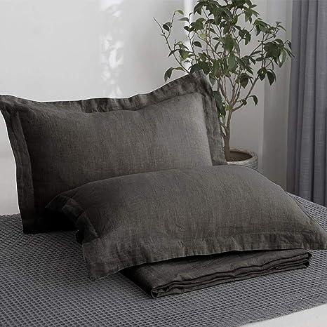Burgundy Sham linen pillow cover Linen king pillowcase Washed linen bedding US size  European bedding set burgundy European cushion cover