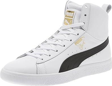 peine Parecer electo  Amazon.com: PUMA Clyde - Zapatillas para hombre, de piel negra, con  cordones, 13 M US: Shoes