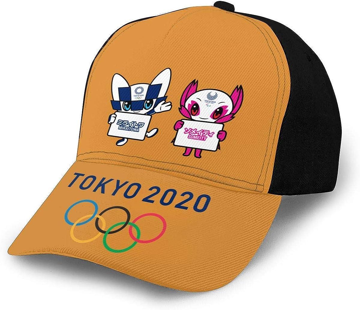 Mascotte des Jeux Olympiques de Tokyo 2020 pour Femmes A Casquettes de Baseball /à Bord incurv/é Casquettes de Camionneur r/églables