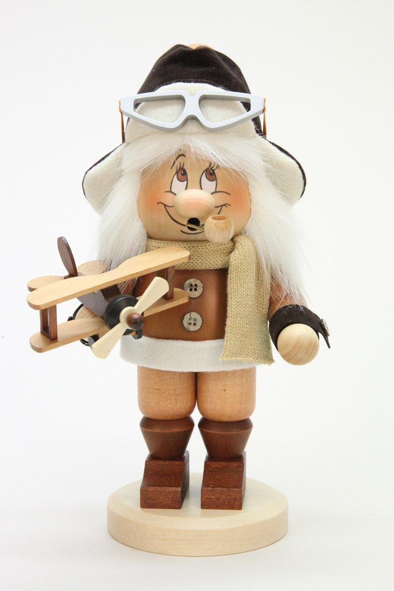 Räuchermännchen Wichtel Pilot - 29cm