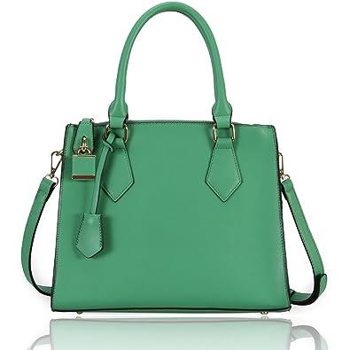 Amazon.com: Hynes Victory Sweet Ladies Tote Handbag (Green): Clothing