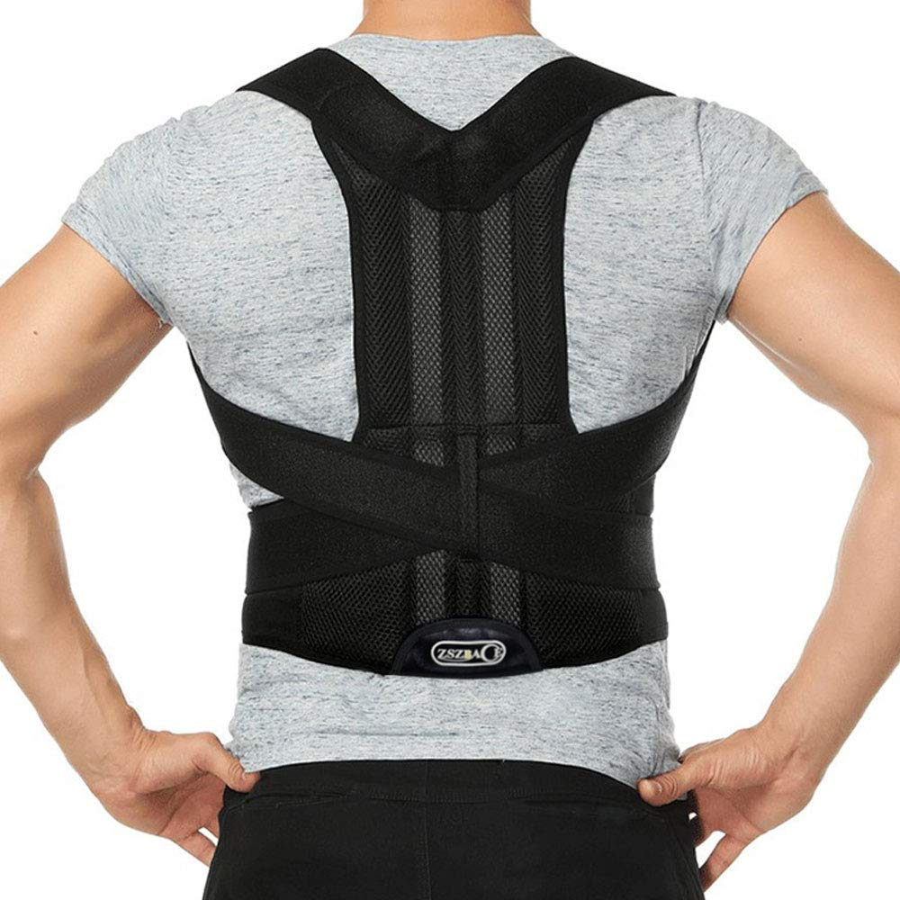 Posture Corrector Brace for Men and Women l Best Fitting Orthopedic Back Brace l Lumbar Suppor Shoulders, Slouching and Pain (L) by ZSZBACE