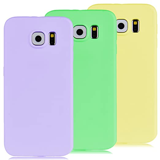 32 opinioni per 3x Custodia Samsung Galaxy S6, Yokata Gel Silicone TPU Morbido Cover Elegant