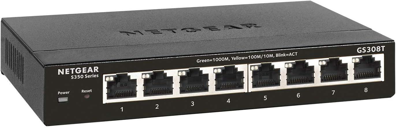 Netgear Gs308t 8 Port Gigabit Ethernet Smart Managed Computers Accessories