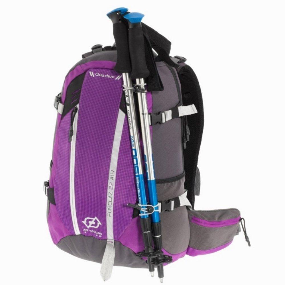QUECHUA FORCLAZ 22 AIR DAY decatlón mochila para TREKKING negro: Amazon.es: Deportes y aire libre