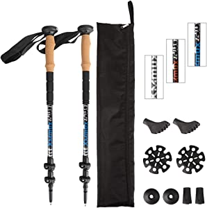 XMmux Trekking Poles Adjustable Set Aluminum and Carbon… Giveaway