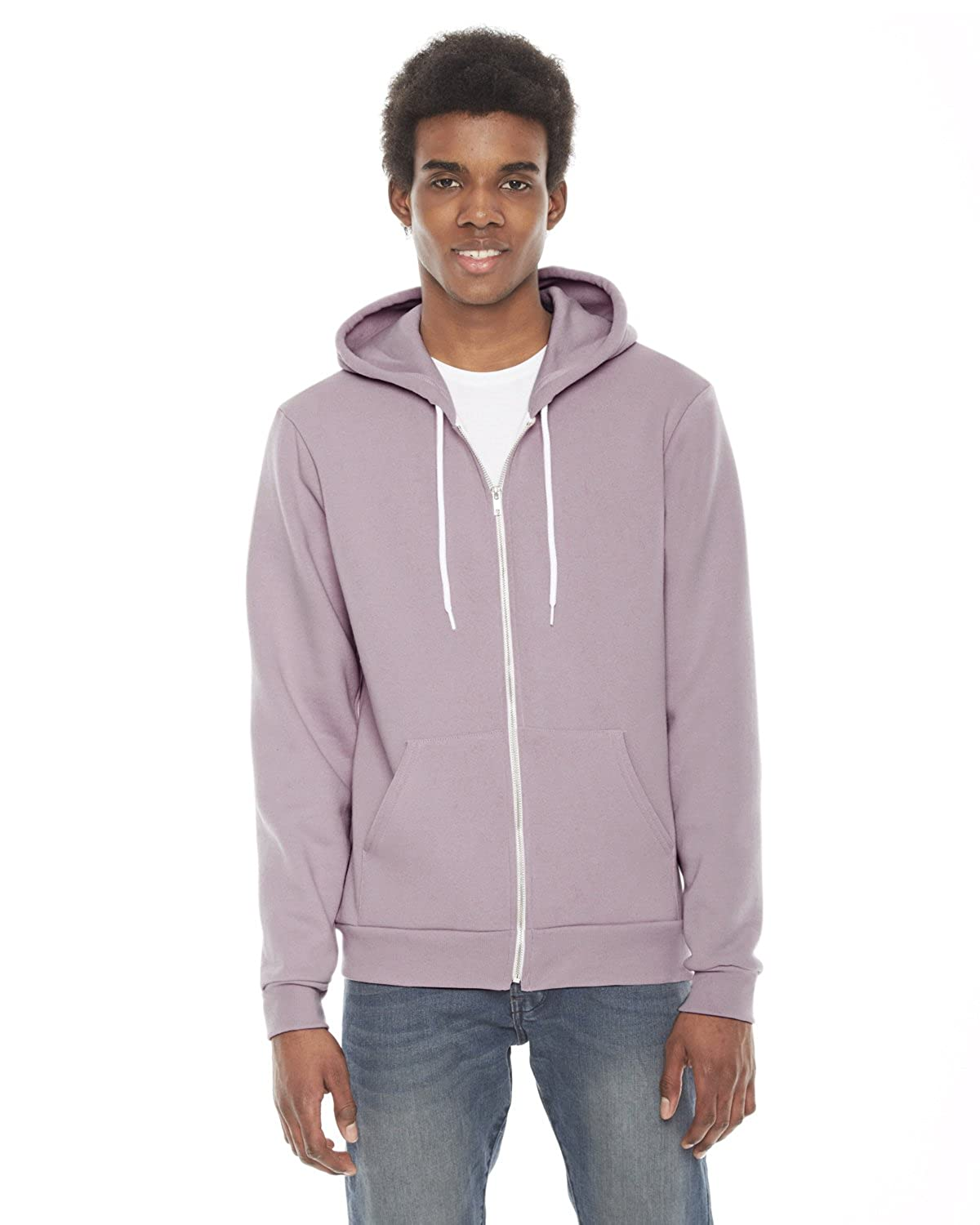 Mauve American Apparel Men's Unisex Flex Fleece Zip Hoodie