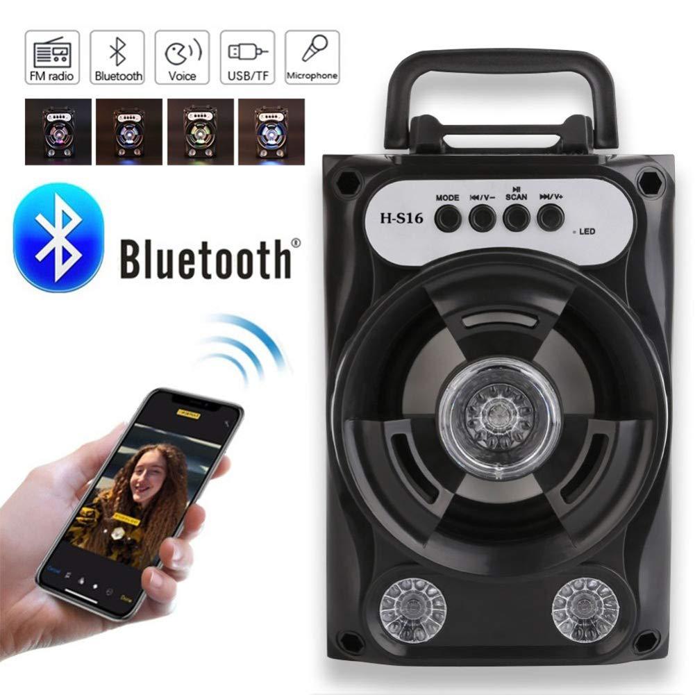 Guoqing Haut-Parleur sans Fil Bluetooth Haut-Parleur Bluetooth de Grande Taille Syst/ème de sonorisation sans Fil Bass Stereo avec Support pour /éclairage /à de la Carte TF Radio FM ext/érieure