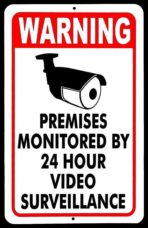 PotteLove Cartel de vigilancia de Seguridad, señal de ...