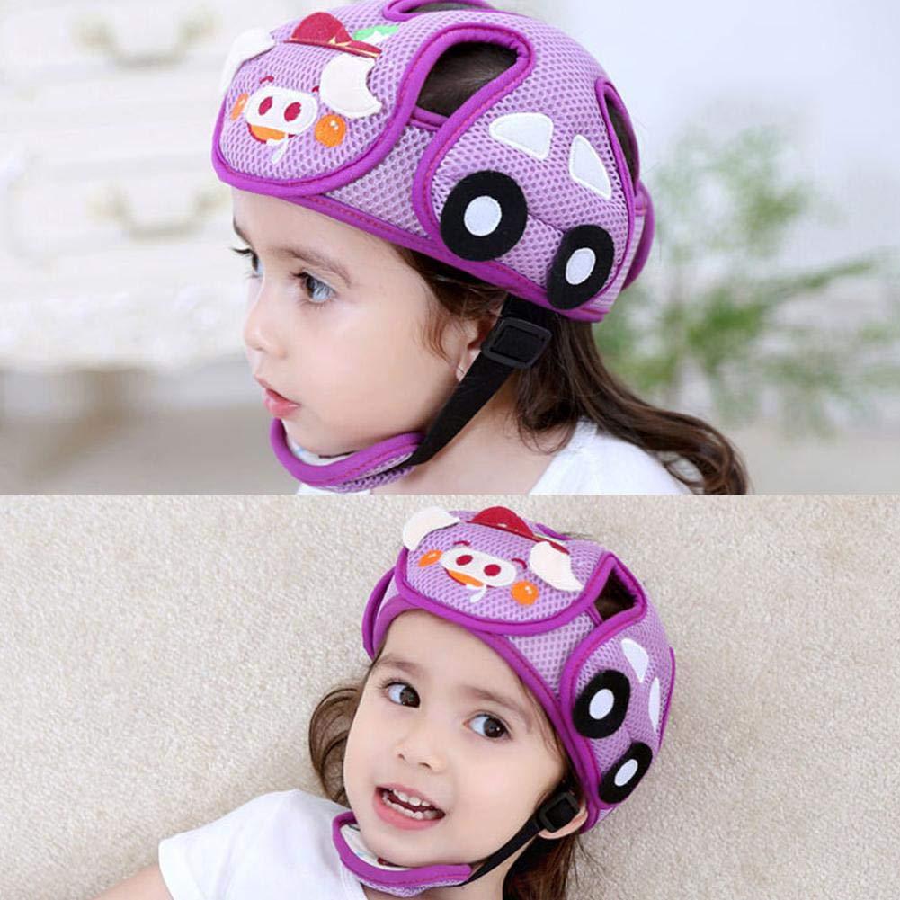 Kinderschutzhelm Anti-Collision Einstellbare Schutzgeschirre Kappe Sicherheit Kopfschutz f/ür Baby Kleinkind