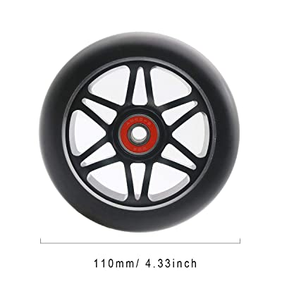 Z-FIRST Replacement 110 mm Pro Scooter Wheel with ABEC 9 Bearings Fit for MGP/Razor/Lucky Pro Scooters 1 Single Scooter Wheel (Q-Rainbow) : Sports & Outdoors