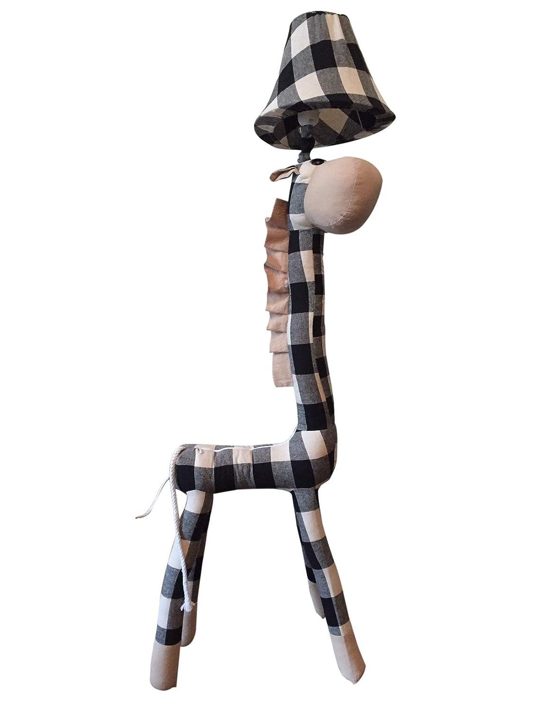 XL Stehlampe Giraffe 116 x 30 cm Stehleuchte Kinderzimmer schwarz weiß Cartoon niedliche Tiere Kuscheltier und Lampe in einem. Kinder Leuchte Weihnachtsgeschenk für Kinder