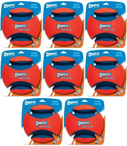 Chuckit Kick Fetch Toy Ball for Dogs, Large 8pk by Chuck It