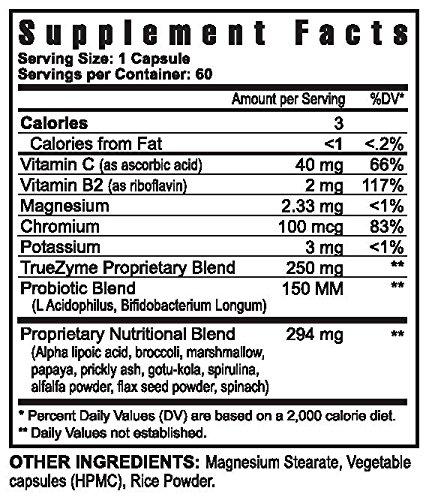 TrueZyme Digestive Enzyme Blend 60 capsules - 6 Pack