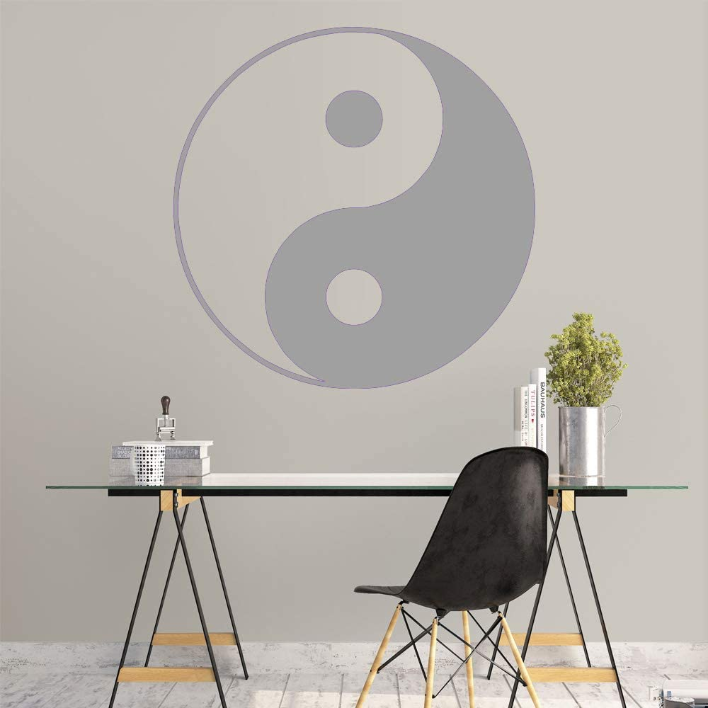 Ajcwhml Pegatinas de Pared clásicas de Yin y Yang, Pegatinas de Pared Modernas para Habitaciones de niños, decoración del hogar de Bricolaje, púrpura 43 cm x 43 cm: Amazon.es: Hogar