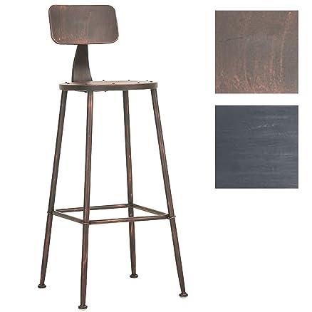 CLP Sgabello alto SOHO, stile industriale, in metallo, altezza ...
